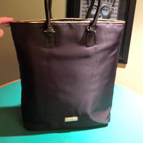 fe24e8a44aa8 Versace Black   Gold Nylon Tall Tote Handbag. M 5b3ac1818ad2f9813a7b55b3